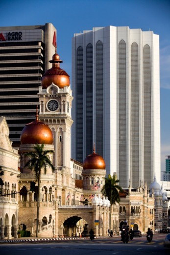 The Sultan Abdul Samad Building, Dartaran Merdeka Square in Kuala Lumpur, the capital city of Malaysia. The building houses the government offices of the Ministry of Information, Communications and Culture of Malaysia. : Stock Photo
