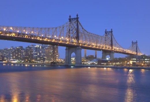 Stock Photo: 1672R-71095 Ed Koch Queensboro Bridge over The East River