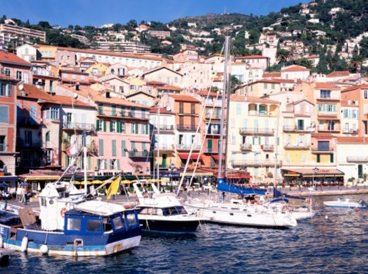 Stock Photo: 1672R-74997 The harbour at Villefranche