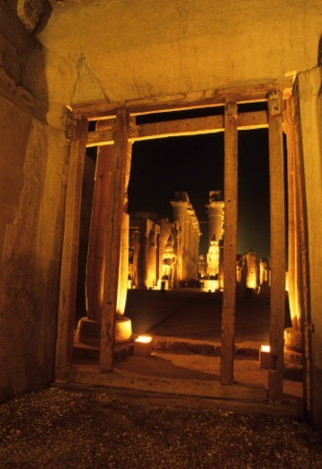 Stock Photo: 1672R-78453 Temple of Luxor illuminated at night, Luxor, Egypt