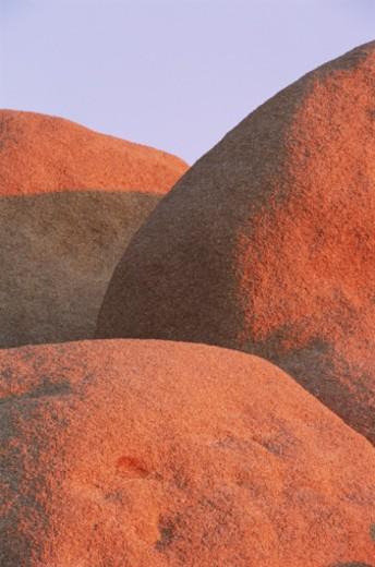 USA, California, Joshua Tree National Park, granite boulders : Stock Photo
