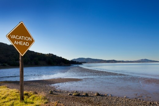 Stock Photo: 1672R-84713 Vacation ahead sign