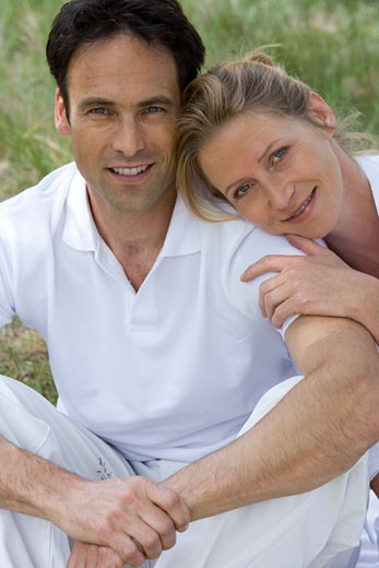 Stock Photo: 1678-172 Portrait of a mid adult couple smiling