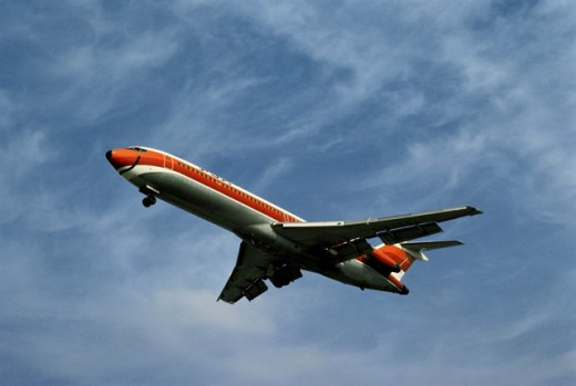 Aeroplane Flying over Los Angeles International Airport