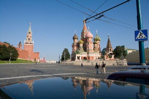 Stock Photo: 1701R-10268 he Kremlin, Moscow, Russia.