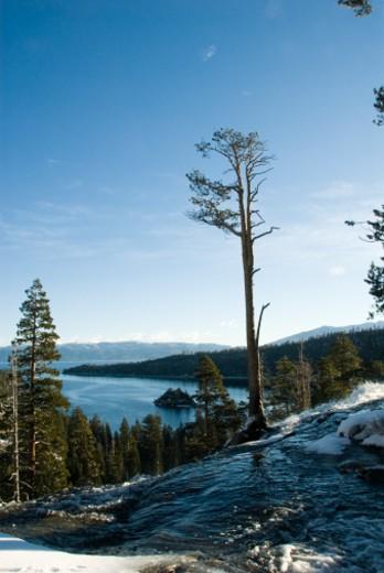 USA, United States of America, California, Lake Tahoe, Emerald Bay : Stock Photo