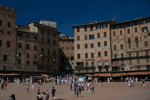 Stock Photo: 1701R-11977 Piazza del Campo, Siena, Tuscany, Italy.
