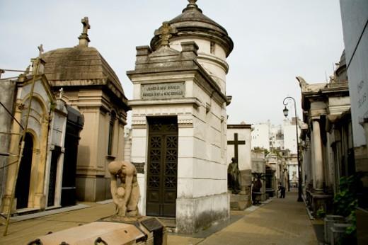 Stock Photo: 1701R-12155 Recoleta Cemetery, Buenos Aires, Argentina.
