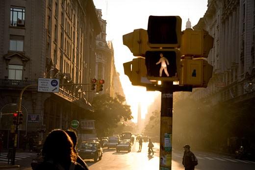 Stock Photo: 1701R-12174 Avenida De Mayo, Buenos Aires, Argentina.
