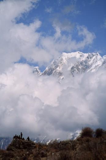 Stock Photo: 1701R-12600 Tsangpo (Brahmaputra) River Gorge, Himalaya, Tibet, China.