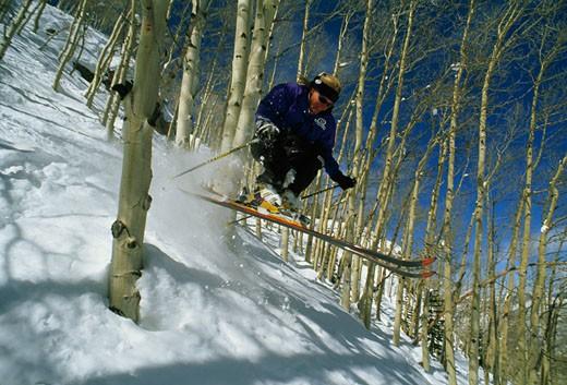 Aspen Mountain, Aspen, Rocky Mountains, Colorado. : Stock Photo
