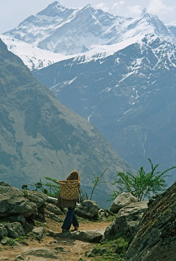 Stock Photo: 1701R-15025 Annapurna Massif, Himalaya, Nepal.