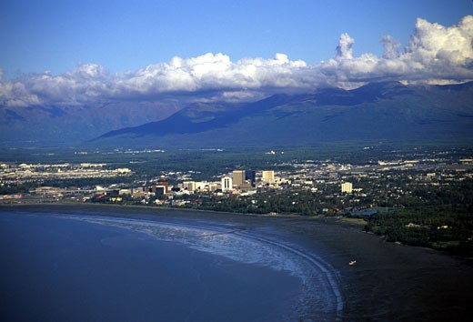 Anchorage, Alaska. : Stock Photo