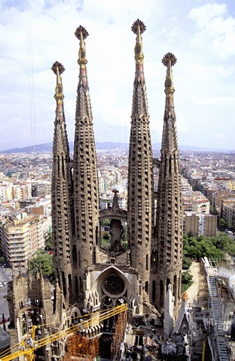 La Sagrada Familia Church, Barcelona, Spain. : Stock Photo