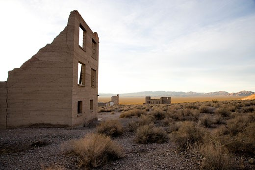 Rhyolite, Nye County, Nevada, USA : Stock Photo