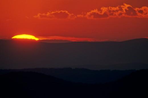 Blue Ridge Mountains, Virginia. : Stock Photo