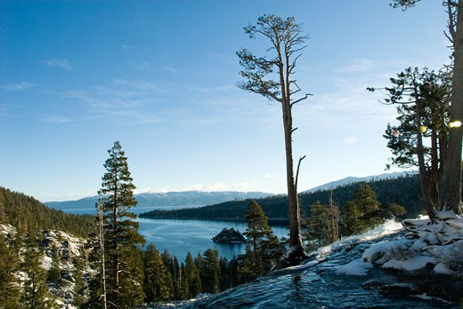 USA, United States of America, California, Lake Tahoe, Emerald Bay : Stock Photo