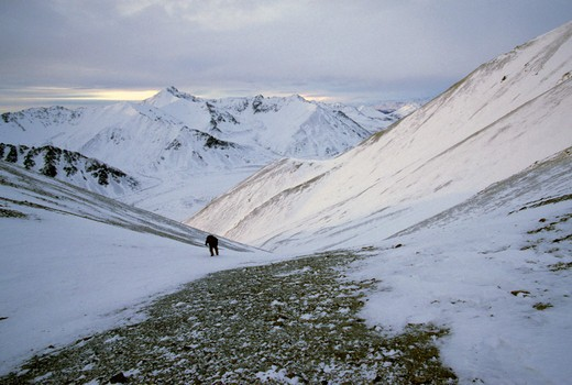 Stock Photo: 1701R-27170 Alaska Range, Alaska.