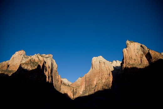 Stock Photo: 1701R-31068 Zion National Park, Utah, USA Monument Valley, Arizona, Utah