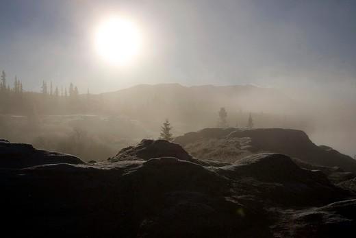 Stock Photo: 1701R-31268 Lewes Lake, Yukon, Canada.