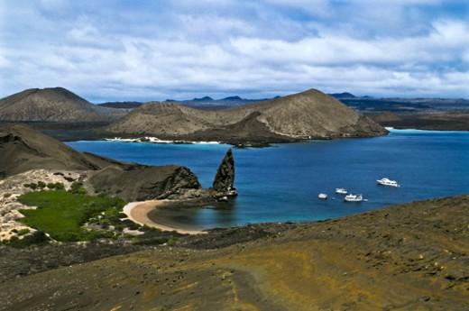 Pinnacle Rock, Bartolome Island, Galapagoc Islands, Ecuador. : Stock Photo