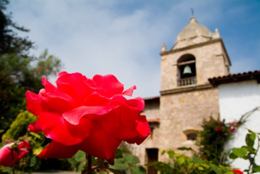 Stock Photo: 1701R-32760 Carmel, San Carlos Mission, California, USA