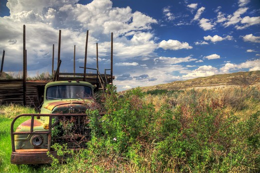 Stock Photo: 1701R-35418 East Coulee, Alberta, Canada.