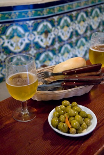 Seville, Andalusia, Spain, Taberna Coloniales : Stock Photo
