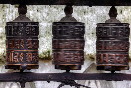 Stock Photo: 1701R-37341 Swayambhunath Temple, Kathmandu, Nepal, Asia.