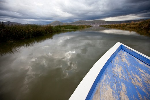 Uros Island, Lake Titicaca, Peru : Stock Photo