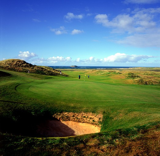 Stock Photo: 1701R-39079 Ballyliffin Golf Club, County Donegal, Ireland