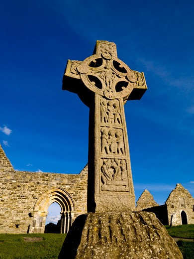Clonmacnoise, County Offaly, Ireland : Stock Photo