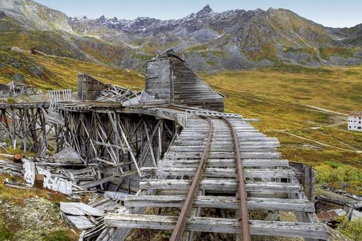 Independence Mine State Historical Park, Hatcher Pass, Alaska, USA. : Stock Photo