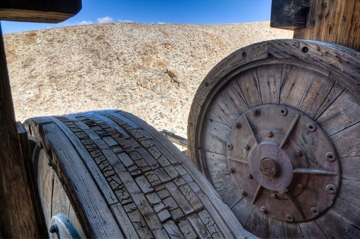 Stock Photo: 1701R-40595 Skidoo, Death Valley National Park, California, United States of America.