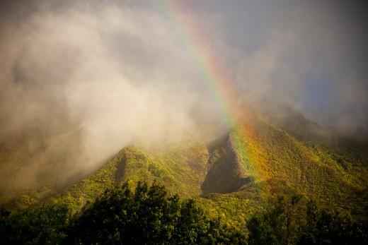 Stock Photo: 1701R-40957 Pali, Oahu, Hawaii, United States.