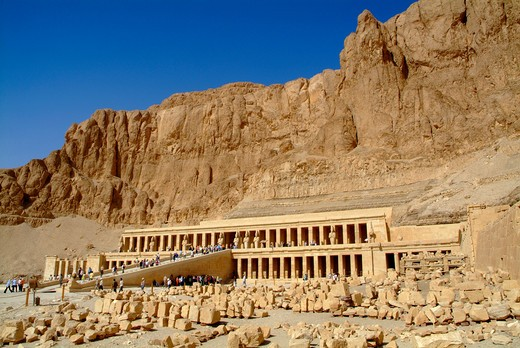 Stock Photo: 1701R-41644 Temple of Hatshepsut, Luxor, Egypt, North Africa