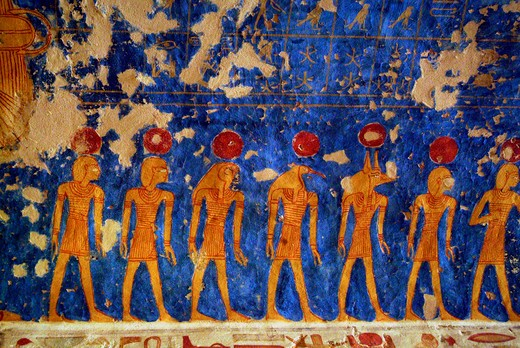 Stock Photo: 1701R-41655 Tomb of Ramesses IV, Valley of the Kings, Luxor, Egypt.