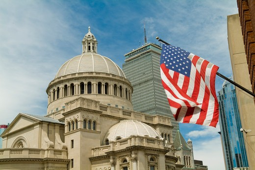 Christian Science Plaza Library and Prudential Center in Boston, USA : Stock Photo