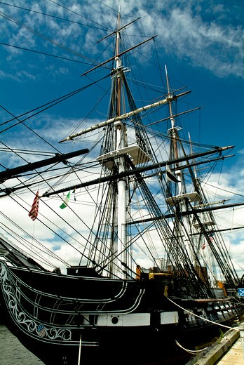 Charelestown, MA. USS Constitution, known as Old Ironsides. : Stock Photo