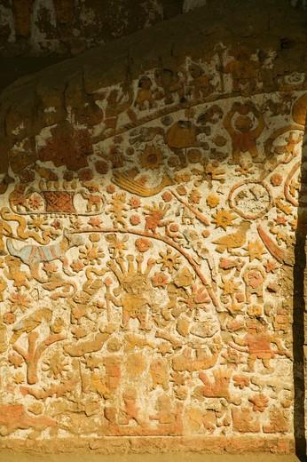 Stock Photo: 1701R-42525 La Huaca de la Luna, the Temple of the Moon, near Trujillo, northern Peru.