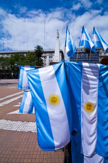 Stock Photo: 1701R-42780 Plaza de Mayo, Buenos Aires, Argentina.
