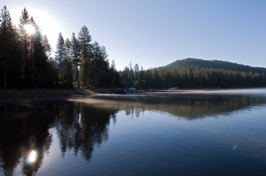 Jackson Meadow Reservoir, Tahoe National Forest, California, United States. : Stock Photo