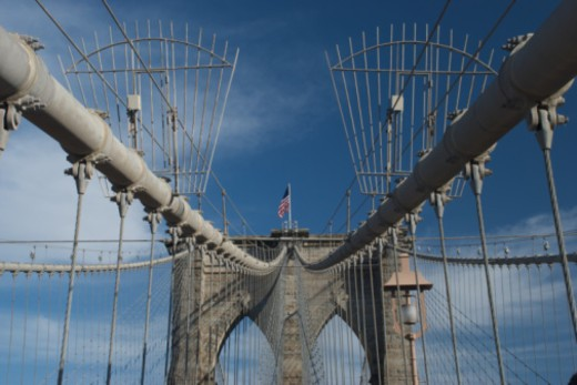 Brooklyn Bridge, New York City, New York, United States of America. : Stock Photo