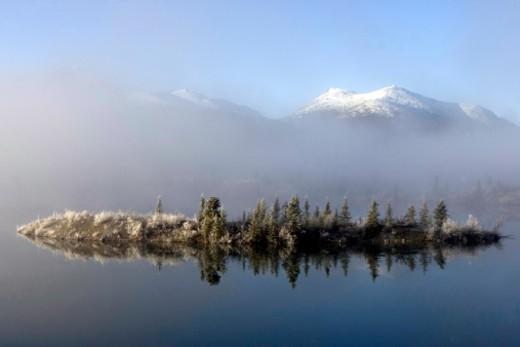 Lewes Lake, Yukon, Canada. : Stock Photo