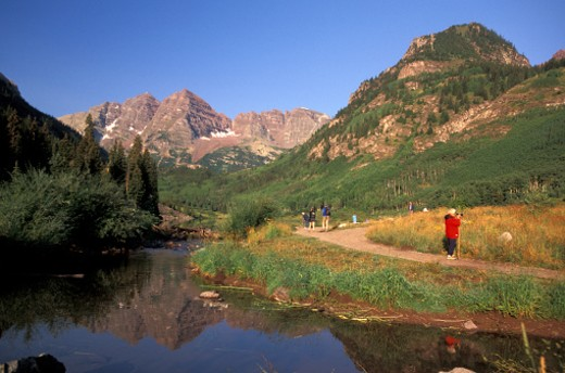Stock Photo: 1701R-4960 Maroon Bells Wilderness Area in Colorado.
