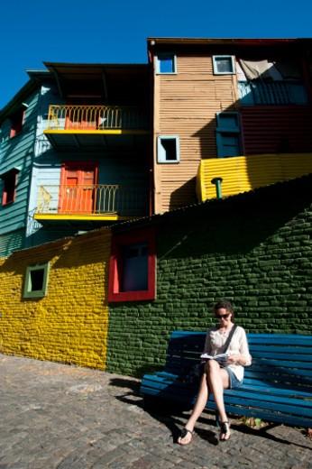 Stock Photo: 1701R-50624 La Boca, Barrio, Buenos Aires, Argentina,