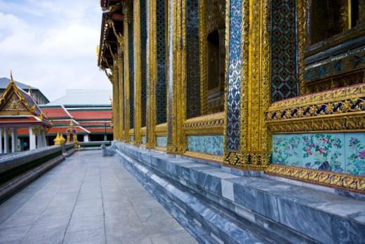 Stock Photo: 1701R-51212 Wat Phra Kaew, Wat Phra Kaeo, Temple of the Emerald Buddha, Bangkok, Thailand.