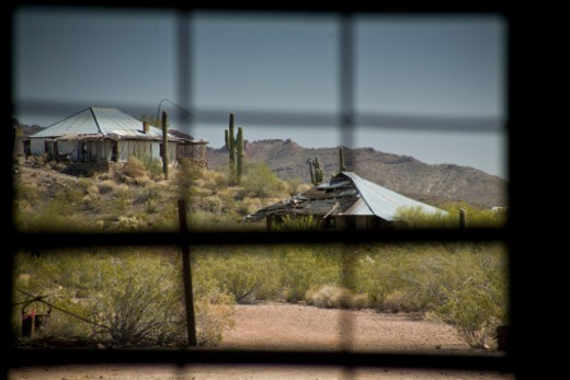 Vulture City Mine, Vulture City Ghost Town, Arizona, United States of America. : Stock Photo