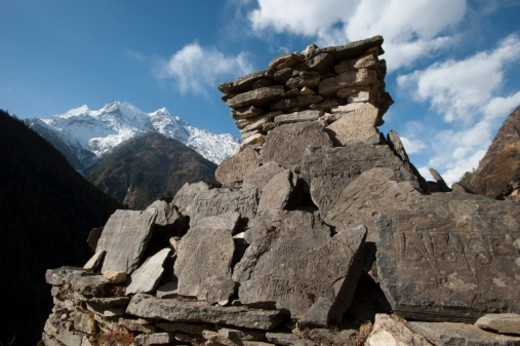 Tsum valley, Manaslu conservation area, Nepal : Stock Photo