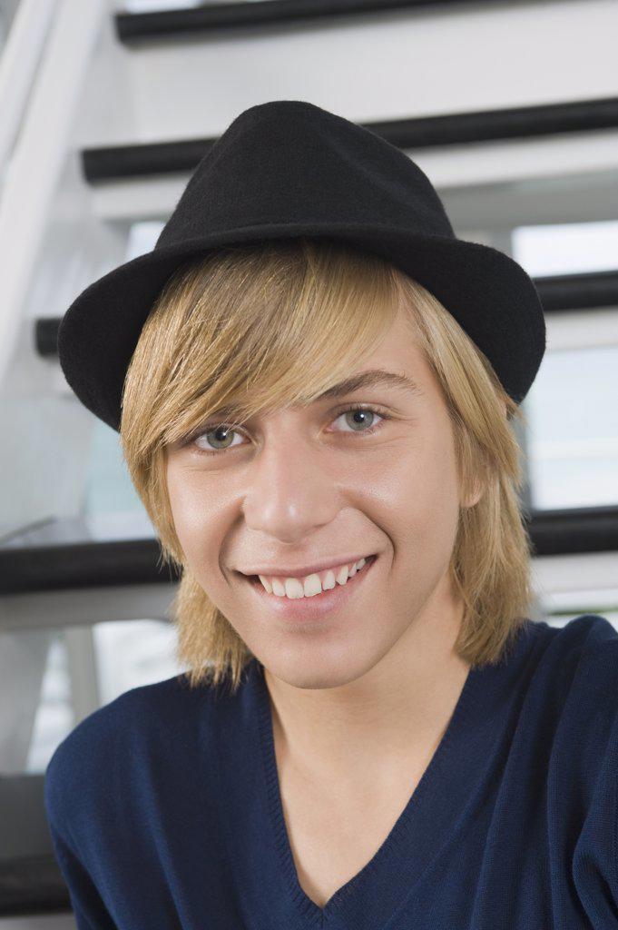 Stock Photo: 1738R-13962 Portrait of a teenage boy smiling